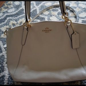 Coach Bags - Coach Small Kelsey Chalk White Leather Satchel